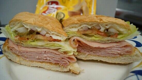 Slice of Italy: Oven toasted Ham Sandwich