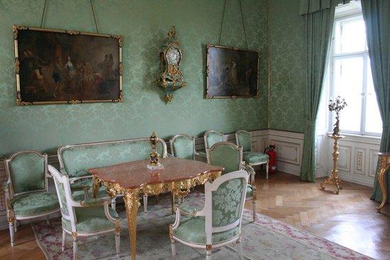 Schloss Baldern: salotto verde