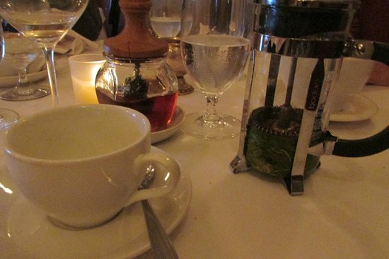 Primo: tisane of french pressed lemon balm and raspberry leaves