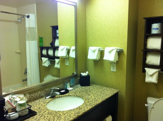 Hampton Inn & Suites- San Luis Obispo : Hampton Inn San Luis Obispo Standard Room Bathroom