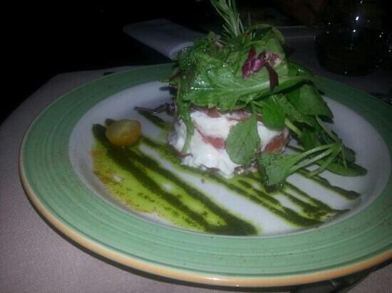 Restaurant Les Alpes : salade tomates mozzarella