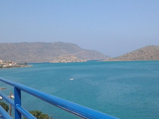 Kavos Bay Apartments : view looking to spinalonga from pool