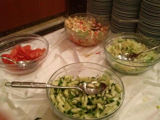 TOP HOTEL Praha: Diverses salades :  tomates, concombres et salade verte... et ce à tous les repas !