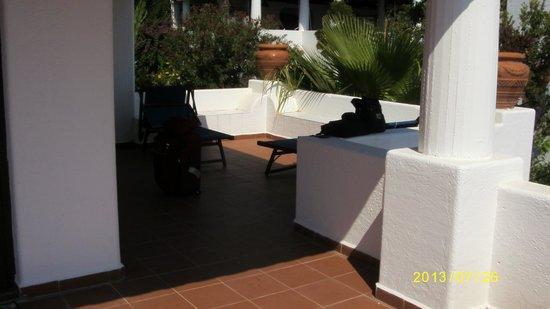 Gattopardo Park Hotel: il terrazzino a disposizione della camera