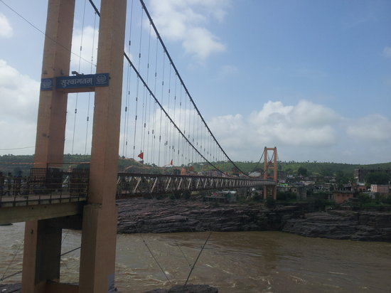 Hanging Bridge to Omkareshwar Temple