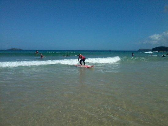 Harlyn Surf School: Trimming forwards