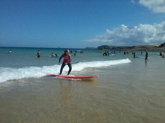 Harlyn Surf School: Trimming backwards