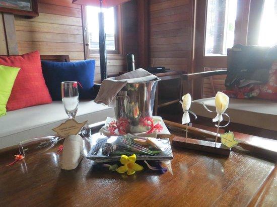 Hilton Seychelles Northolme Resort & Spa: Lovely honeymoon gift from the hotel
