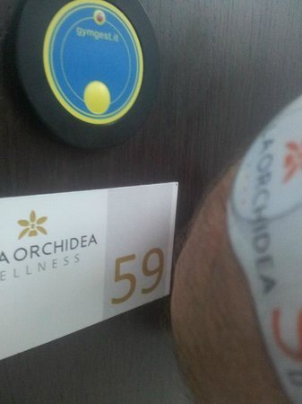 Villa Orchidea : Technological lockers in the Wellness Center
