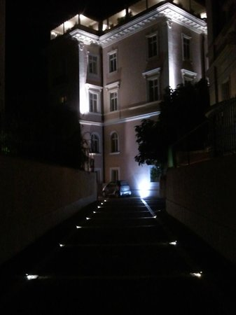 Villa Morgagni at night
