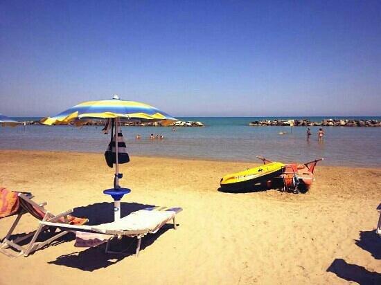 Spiaggia privata dell hotel Europa