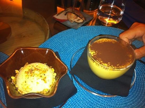 Vintage : semifreddo al pistacchio e tiramisù