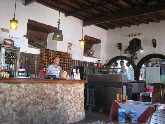 Restaurante Portarade: Bar/Serving Area inside the restaurant