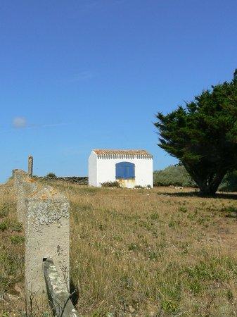 Ile d'Yeu : petite maison aux volets bleus, près de la plage des Sabias