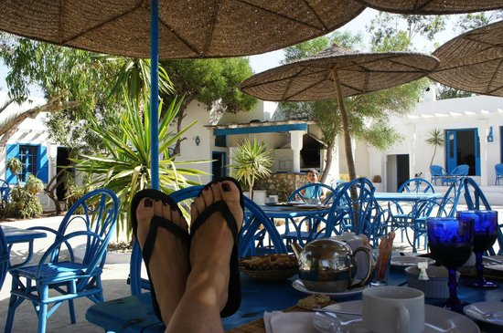 Tangaro Auberge & Spa : Petit Déj en terrasse
