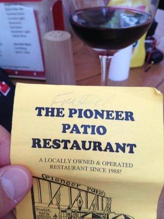 The Pioneer Patio Restaurant : excellent food !!