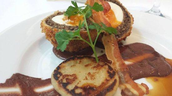 Finbarr's Restaurant: Chefs own Haggis Scotch egg creation