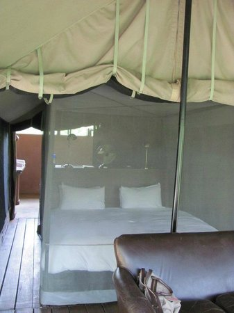Honeyguide Khoka Moya & Mantobeni Camps: Bed in my tent