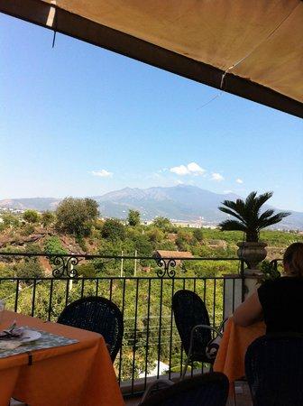 Bed and Breakfast Palazzo Giovanni: Colazione con l'Etna