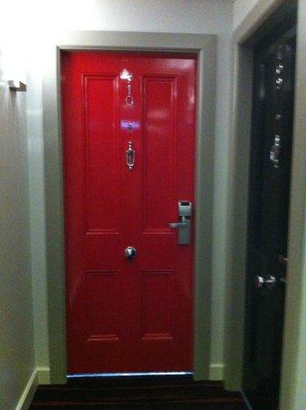 City Hotel: Our bedroom door!