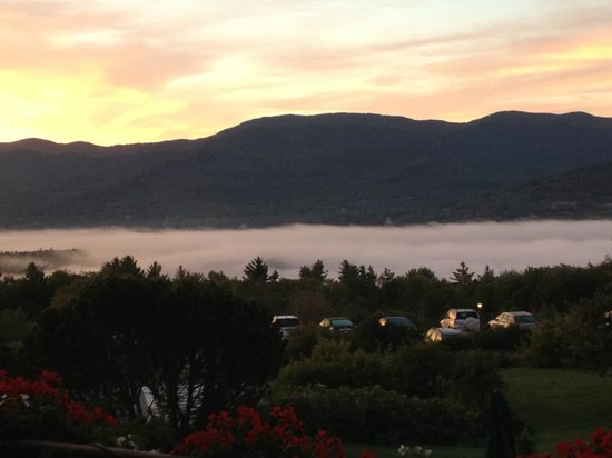 Trapp Family Lodge: Sunrise from our balcony.