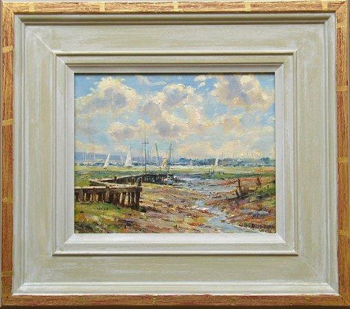 Robert Perera Fine Art Gallery: Barry Peckham ROI Original oil, Lymington River