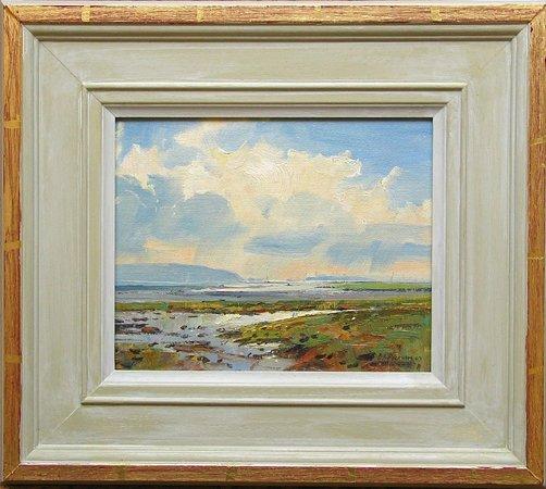 Robert Perera Fine Art Gallery: Barry Peckham ROI Original oil, Lymington Marshes