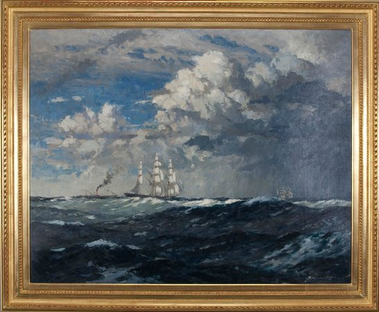 Robert Perera Fine Art Gallery: Norman Wilkinson original signed oil.