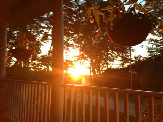 The Harvest Inn: Sunset from Harvest Inn porch
