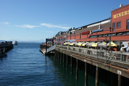 The Crab Pot Seafood Restaurant View Of Patio At Seattle Washington