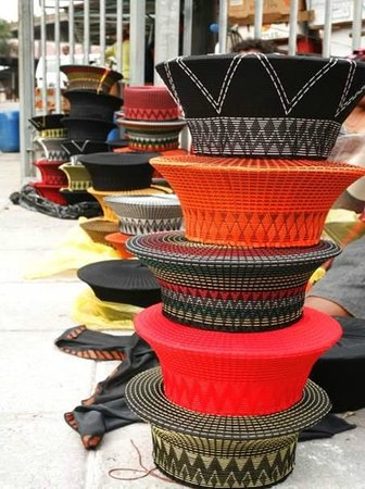Markets of Warwick Tour  These are Zulu traditional hats 2bb36af132a