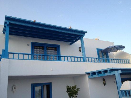 Agua Marina Apartments: Il terrazzo della nostra stanza