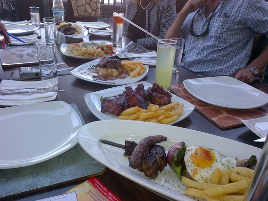Various dishes on offer at City Grill