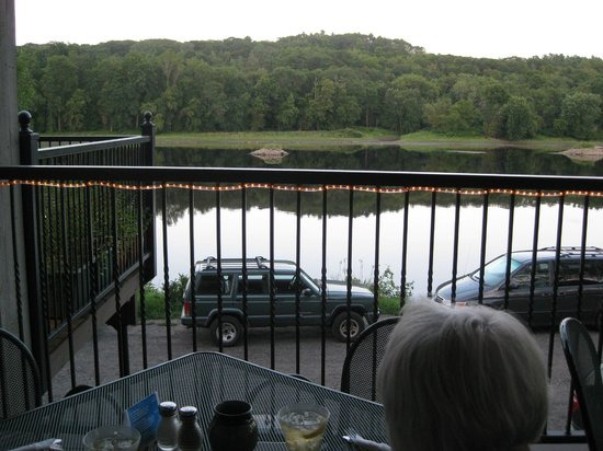 Joyce's in Hallowell: Kennebec River from Joyce's Deck