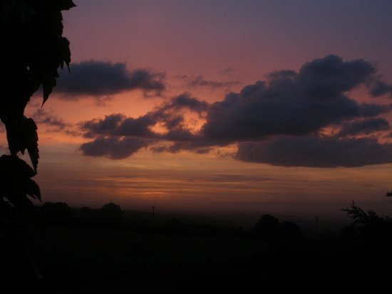 Boyton, UK: early risers and insomniacs can enjoy a typical sunrise from the bedroom window