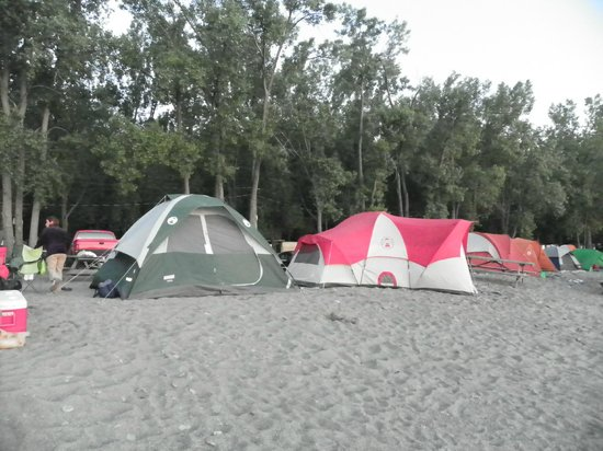 Sara's Campground: Our tents on the beach