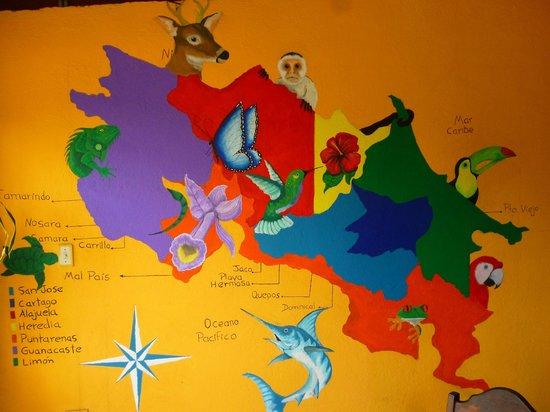 Jardin marino: Mural del restaurante