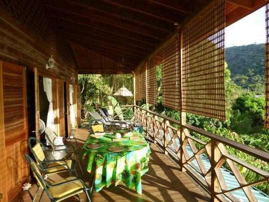 Carpe Diem Villa: Long upstairs balcony.