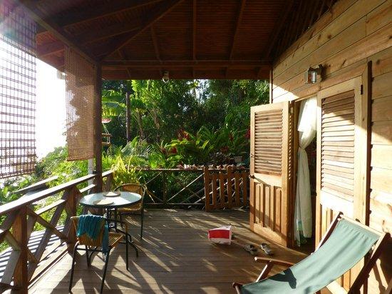 Carpe Diem Villa: Balcony and doors to Green Room