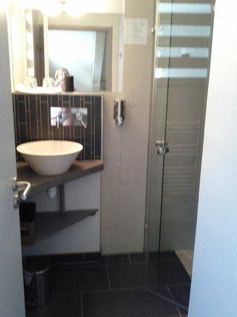 Le Saut de la Truite : Salle de bains. Douche italienne