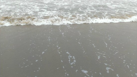 Courtyard by Marriott Virginia Beach Oceanfront / N 37th St: Getting our feet wet