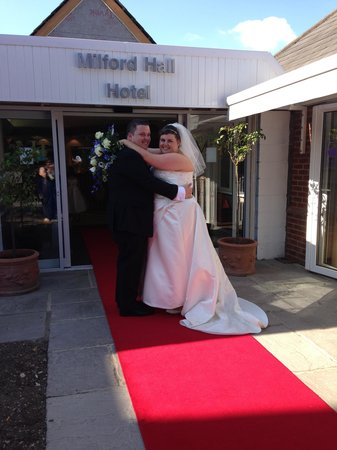 Milford Hall Hotel and Spa: Arrivng to red carpet treatment at the Milford Hall hotel