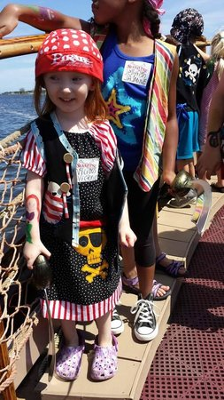 Jersey Shore Pirates : My daughter playing the role of Vicious Victoria the Pirate.
