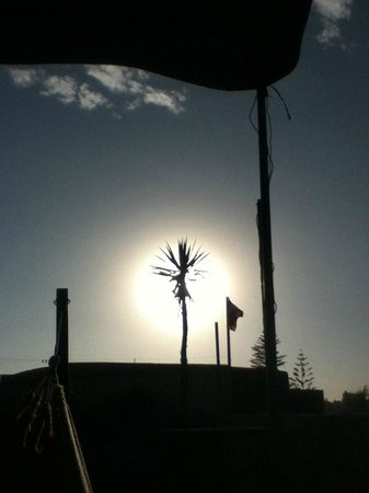 Bothy Hostel Arequipa : View of the sun from the hamage.