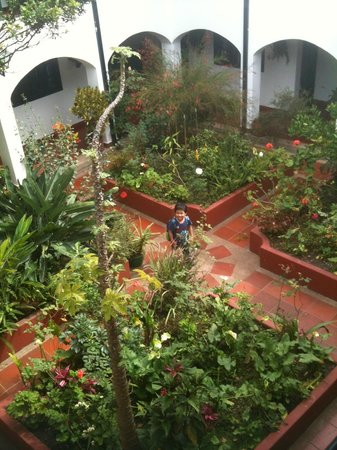 Inside Patio Garden @ Hotel Hospederia La Roca in Villa de Leya