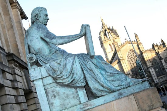 Mercat Tours: You'll hear all about the characters of Edinburgh on our walking tours, like David Hume.
