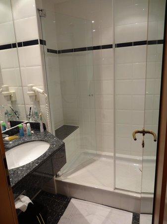 Hotel Müggelsee Berlin: Riesige Dusche, ganz Klasse für korpulente Menschen