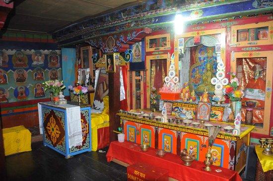 Keylong, อินเดีย: Une des pièces de prières