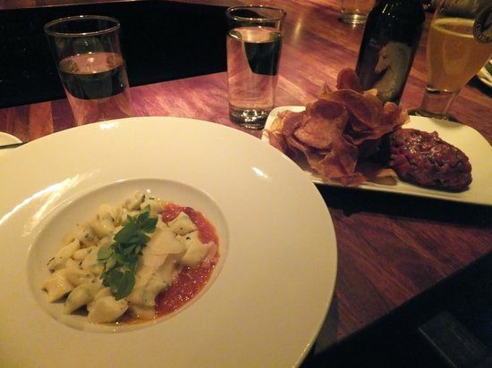 Pullman Wine Bar : Best gnocchi of my life - Ricotta gnocchi, roasted tomato fondue and basil