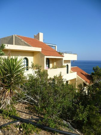 Aroma Creta Hotel Apartments & Spa : vue du chemin.